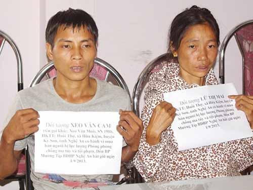 Các đối tượng buôn bán người bị cơ quan chức năng tỉnh Nghệ An bắt giữ