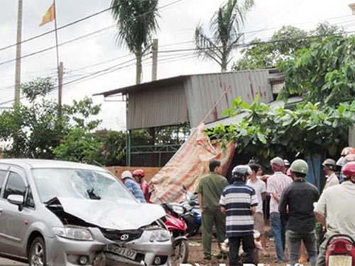 Hiện trường ô tô tông chết đối tượng trộmảnh: INTERNET