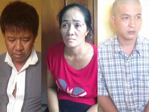 Từ trái sang: Nguyễn Hoàng Ngọc Khanh, Phạm Thị Kim Hiền và Lê Huỳnh Tuấn Anh