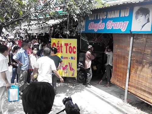 Tiệm cắt tóc Huyền Trang, nơi xảy ra vụ án