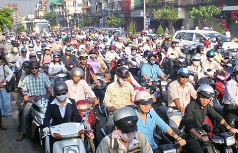 TP.HCM là địa phương hiếm hoi chưa ra nghị quyết thu phí sử dụng đường bộ đối với xe máy. Ảnh: MP