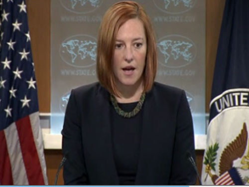 """Bà Psaki khẳng định việc Trung Quốc đưa giàn khoan dầu tới vùng biển của Việt Nam là cách hành xử """"gây hấn và không giúp ích gì cho an ninh khu vực"""". Ảnh: Reuters"""