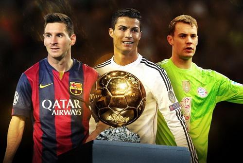 Ba ứng viên sáng giá cho danh hiệu Quả bóng vàng FIFA 2014