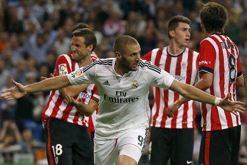 Benzema có cú đúp trong chiến thắng trước Bilbao