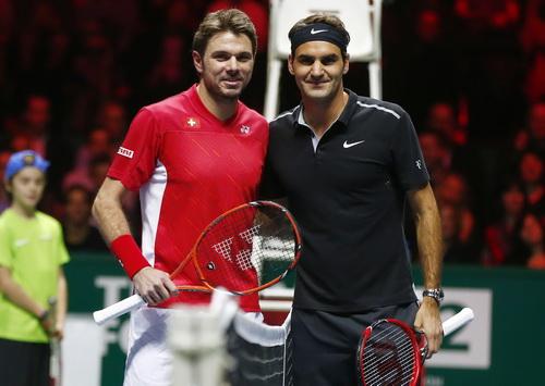 Federer chờ đối đầu cùng đồng hương đàn em Wawrinka