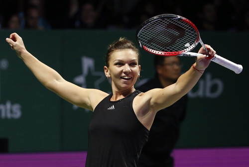 Chiến thắng lịch sử của Simona Halep trước Serena ở vòng bảng WTA Finals