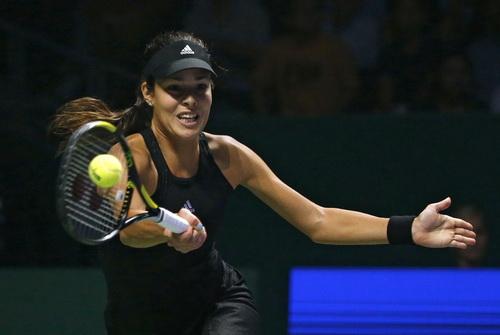 Ana Ivanovic thi đấu vượt trội so với đối thủ đàn em