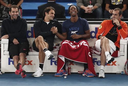Pete Sampras, Federer, Monfils và Cedroc Pioline