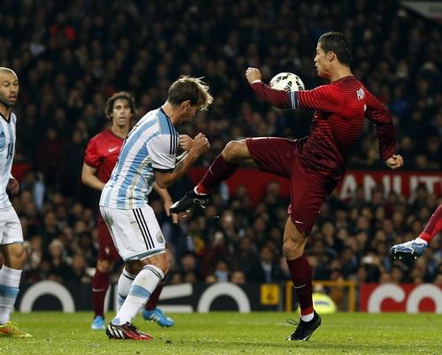 Ronaldo không để lại nhiều ấn tượng sau 45 phút có mặt trên sân Old Trafford