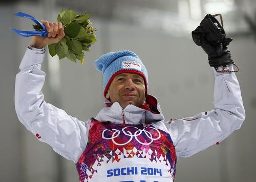 Ole Einar Bjoerndalen giành HCV trượt tuyết 2 môn phối hợp 10 km ở tuổi 40 Ảnh: REUTERS