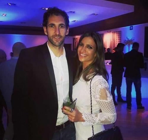 Vợ chồng thủ môn Diego Lopez (Real)
