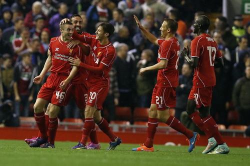 Jordan Rossier (46) có bàn thắng ngay lần đầu thi đấu cho Liverpool