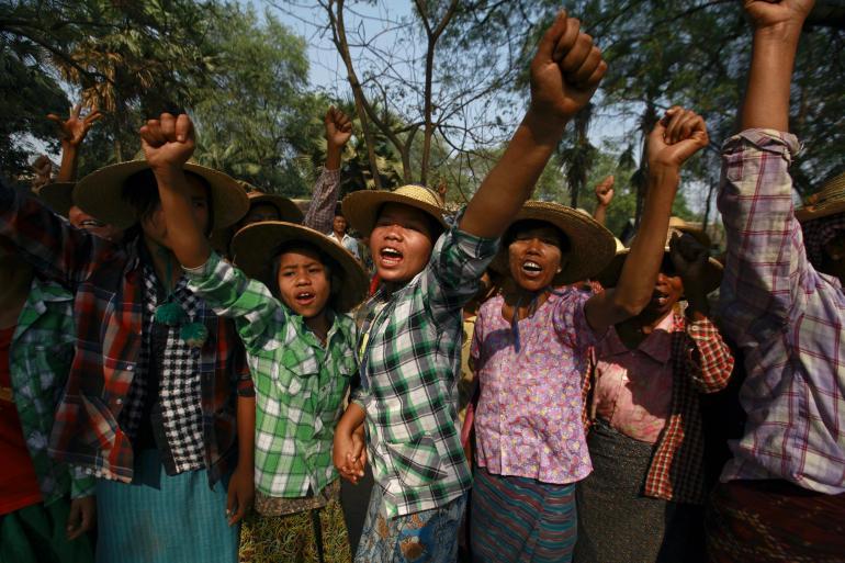Người biểu tình Myanmar phản đối công ty Wanbao khai thác mỏ