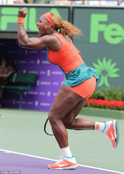Để có một Serena cực kỳ thành công trên sân đấu, cô đã khổ luyện rất nhiều