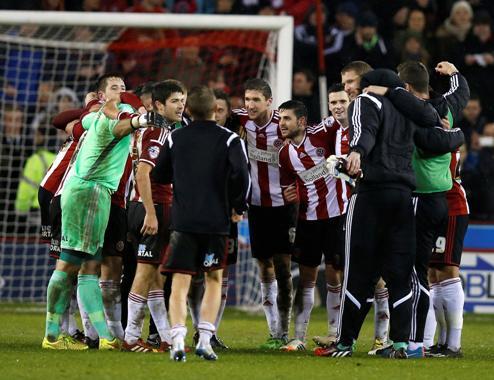 Sheffield vui mừng khi đánh bại được Southampton