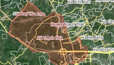 Bản đồ khu vực xã Hòa Thạch, huyện Thạch Thất, Hà Nội