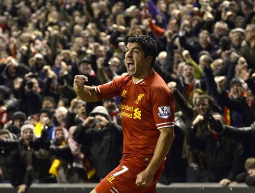 Suarez thăng hoa trong màu áo Liverpool