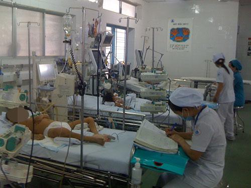 Khoa cấp cứu của các bệnh viện nhi thường tiếp nhận nhiều trẻ bị tai nạn