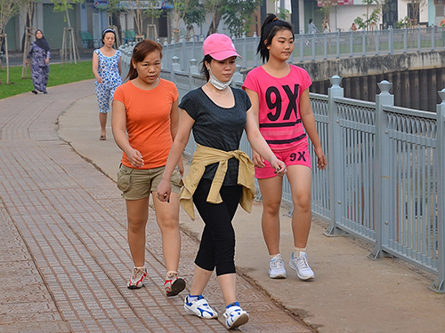 Cơ thể khỏe mạnh, tinh thần sảng khoái tác động tốt đối với ruột giàẢnh: Tấn Thạnh