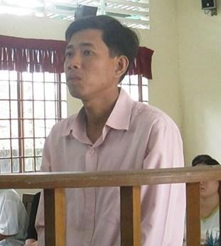 Bị cáo Hoàng tại phiên toà