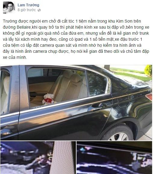 Lam Trường chia sẻ thông tin về vụ cướp