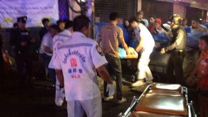 Nổ súng tại thủ đô Bangkok khiến 1 người chết và 7 người bị thương. Ảnh: Twitter