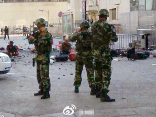 Cảnh sát vũ trang nhanh chóng có mặt tại hiện trường vụ nổẢnh: South China Morning Post
