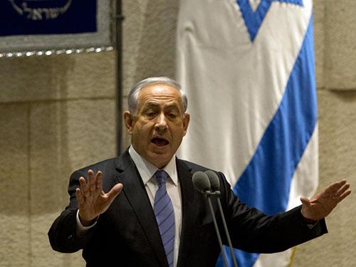 Thủ tướng Benjamin Netanyahu phát biểu trước quốc hội Israel hôm 27-10Ảnh: AP
