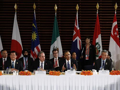 Các nhà lãnh đạo tham dự cuộc họp về TPP ở Bắc Kinh hôm 10-11Ảnh: Reuters