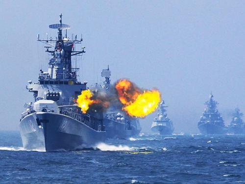 Trung Quốc và Nga tập trận hải quân chung ở phía Bắc biển Hoa Đông hồi tháng 5Ảnh: TÂN HOA XÃ