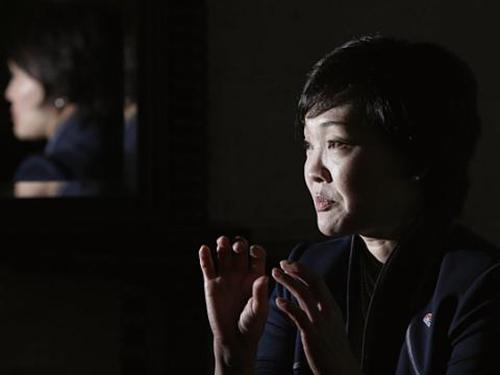 Bà Akie Abe trả lời phỏng vấn hãng Reuters hôm 4-9 ở Tokyo Ảnh: REUTERS