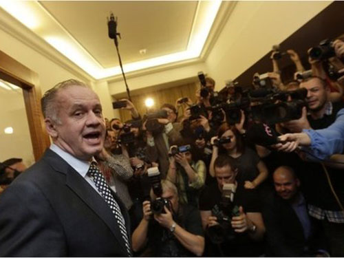 Tổng thống Slovakia mới đắc cử Andrej Kiska Ảnh: REUTERS
