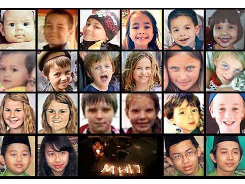 Ít nhất 20 em dưới 12 tuổi ra đi cùng chuyến bay xấu số MH17 Ảnh: Daily Mail