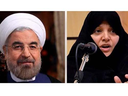 Tổng thống Iran Hassan Rouhani và vợ, bà Sahebeh Arabi Ảnh: Al Arabiya