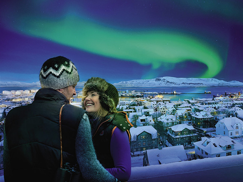 Du khách được chứng kiến luồng ánh sáng phương Bắc ở Iceland trong năm 2014 Ảnh: ICELAND AIR