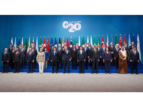 Các nhà lãnh đạo G20 chụp ảnh tập thể hôm 15-11Ảnh: REUTERS