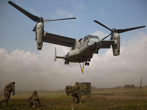 Máy bay vận tải Osprey của Mỹ tham gia tập trận Cobra Gold 2014Ảnh: EXERCISE COBRA GOLD