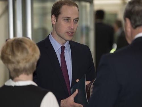 Hoàng tử William tại Hội nghị Đoàn kết vì đời sống hoang dã Ảnh: MIRROR