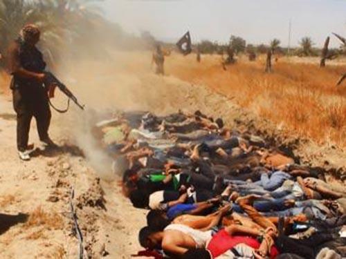 ISIL tung lên mạng hình ảnh hành quyết tù binh IraqẢnh: SLATE