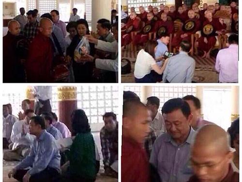 Chùm ảnh cho thấy hoạt động của ông Thaksin Shinawatra ở Myanmar tuần rồi Ảnh: BANGKOK POST