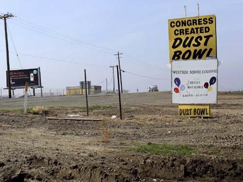 Một khu vực đang bị hạn hán nặng nề ở bang California - MỹẢnh: Reuters