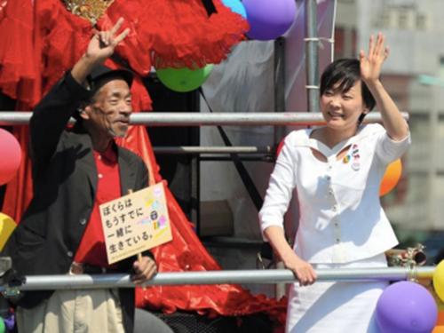 Bà Akie Abe tham gia lễ diễu hành tự hào đồng tính mới đây ở TokyoẢnh: STRAIGHT.COM