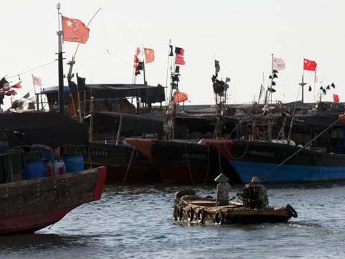 Tàu cá Trung Quốc tập trung ở cảng Phương Đông, đảo Hải NamẢnh: Reuters
