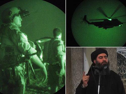 Mỹ đang ráo riết truy lùng Abu Bakr al-Baghdadi (góc phải dưới) Ảnh: Mirror