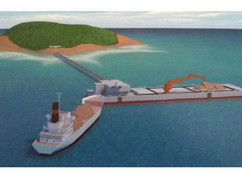 Một bản vẻ phối cảnh ụ tàu nổi đa năng được trưng bày tại cuộc triển lãm Shiptec China 2014 vừa diễn ra ở TP Đại Liên Ảnh: IHS Jane's