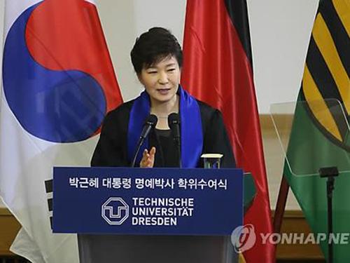 Tổng thống Hàn Quốc Park Geun-hye kêu gọi tăng cường trao đổi, hợp tác với Triều TiênẢnh: Yonhap