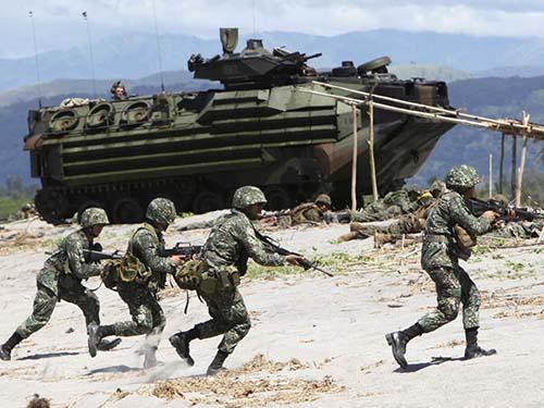 Một cuộc tập trận chung gần đây giữa Mỹ và PhilippinesẢnh: SALON