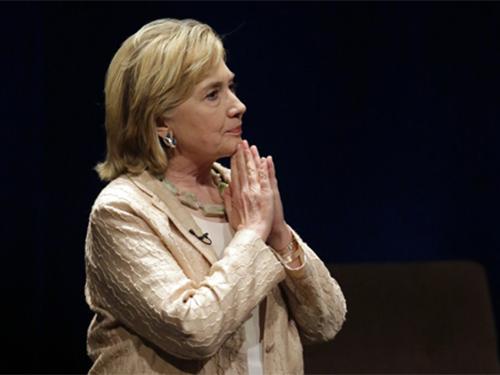 Cựu ngoại trưởng Mỹ Hillary Clinton Ảnh: AP