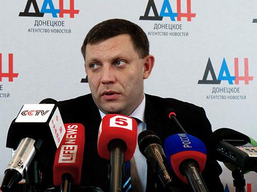 Lãnh đạo Cộng hòa Nhân dân Donetsk tự xưng Alexander Zakharchenko  Ảnh: RIA NOVOSTI