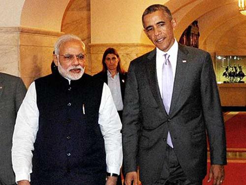 Thủ tướng Ấn Độ Narendra Modi và Tổng thống Mỹ Barack Obama tại Nhà Trắng Ảnh: PTI